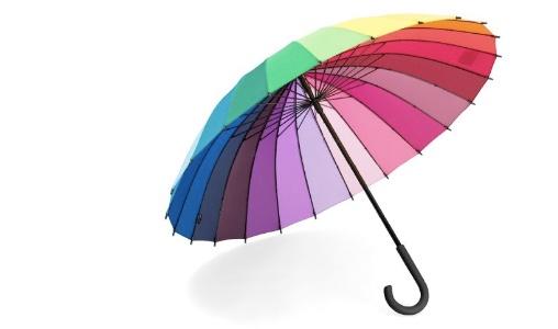 Colorfull umbrella :): Wheel Umbrella, Umbrellas, Colorwheel, Colors, Wheel Stick, Rainbows, Color Wheels