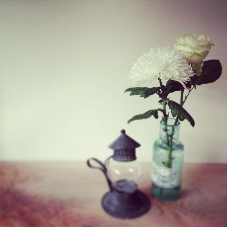 White flowers.