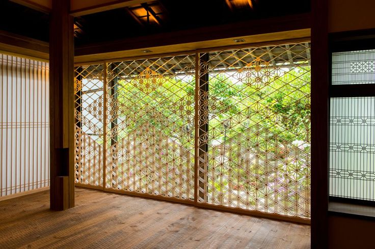 Living Shouji (障子)by Yoshihara  Wood Works  See how the world looks different through their hand made shouji partition.
