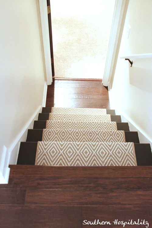 Painted Stairs And Adding Runners Carpets The Top And