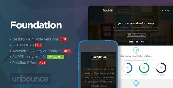Foundation - Unbounce Non-Profit Landing page
