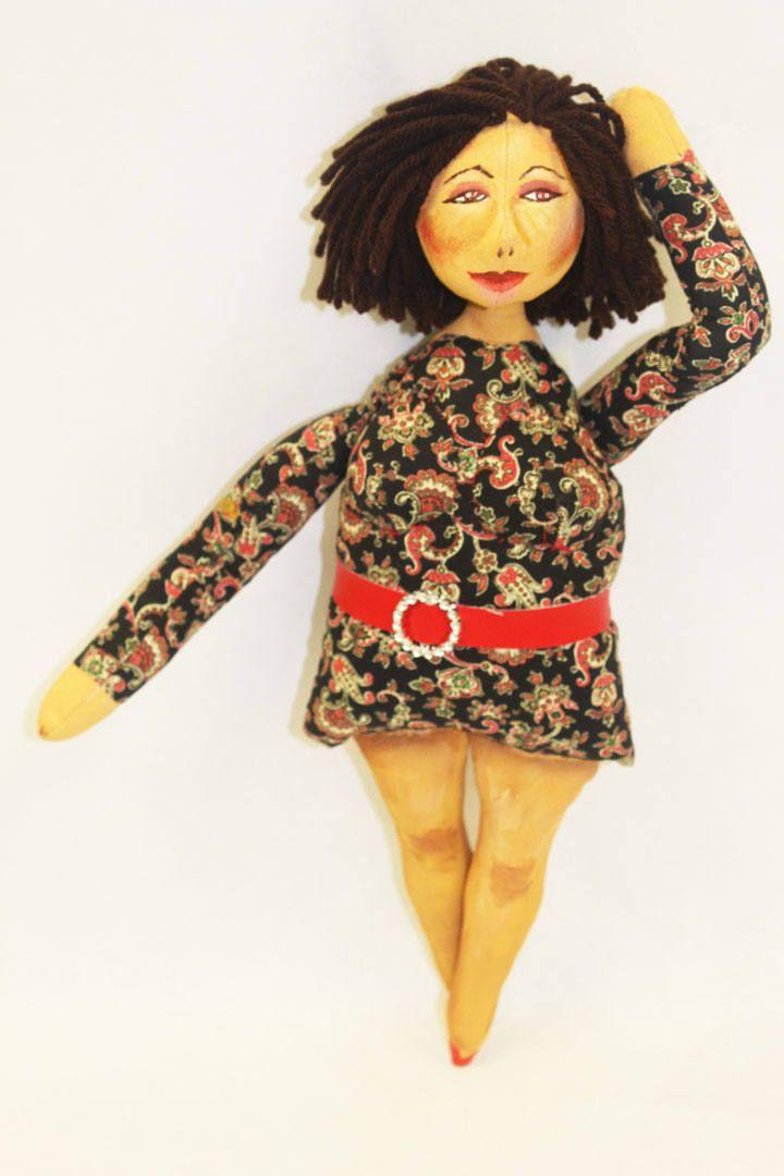 Sophia * Hand-Painted OOAK Cloth Doll