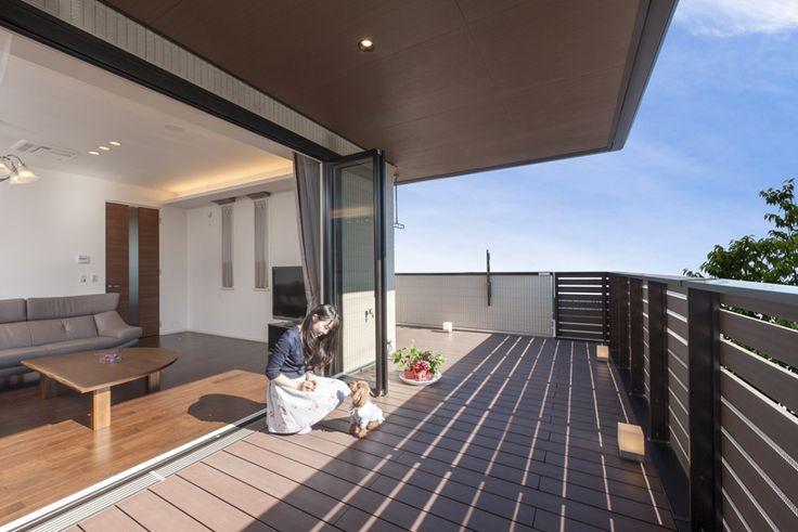 広いバルコニーが青空につながる 二階リビングの家|2階建て|建築事例|注文住宅|ダイワハウス