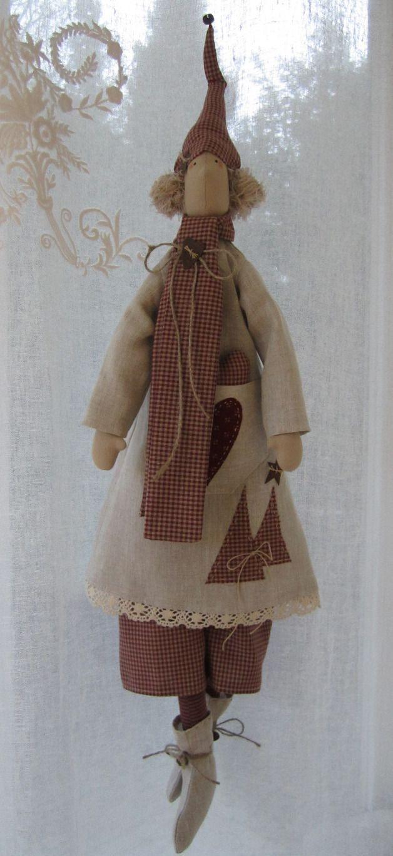 Weihnachtsdeko - Großer Weihnachts- Wichtel im Landhausstil - ein Designerstück von Feinerlei bei DaWanda