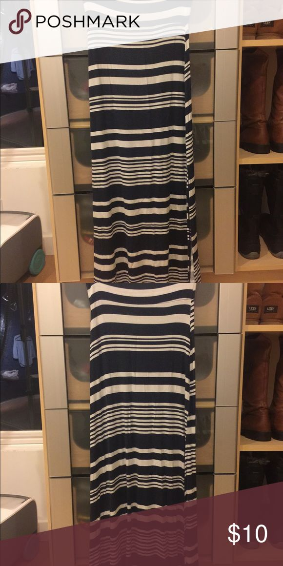 Stripped Maxi Skirt Worn maybe twice? Not frequently at all, needs to go! Charlotte Russe Skirts Maxi
