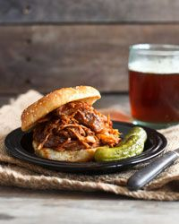 Slow Cooker Barbecued Pulled Pork Recipe from Food & Wine: Slow Cooker Recipe, Pork Recipe, Crock Pots, Barbecue Pull, Pull Pork, Cooker Barbecue, Crockpot Recipe, Cookout Parties, Pulled Pork
