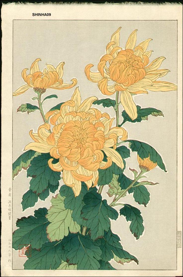 Kawarazaki Shodo: Chrysanthemum - Robyn Buntin of Honolulu