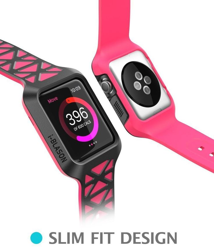Sport Apple Watch Case PINK Rugged Protective Strap Bands for 42mm