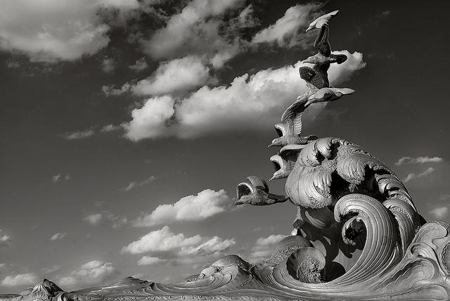 Navy Merchant Marine Memorial - Lady Bird Johnson Park, VA near DC by Marcus Frank, via Flickr