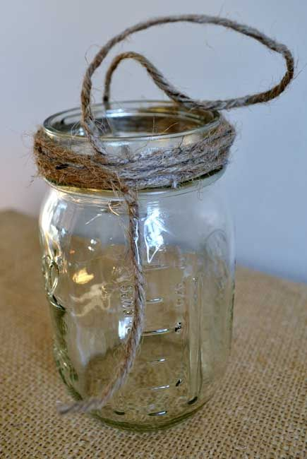 hanging mason jars {a tutorial} - burlap and blue