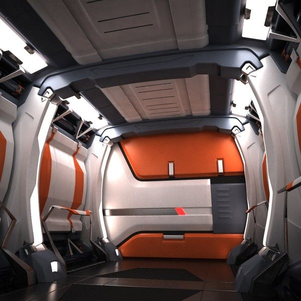 sci fi spaceship corridor 3d max sci fi spaceship corridor 04 by