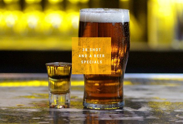 38 shot-and-a-beer specials in Philadelphia. All under $7.