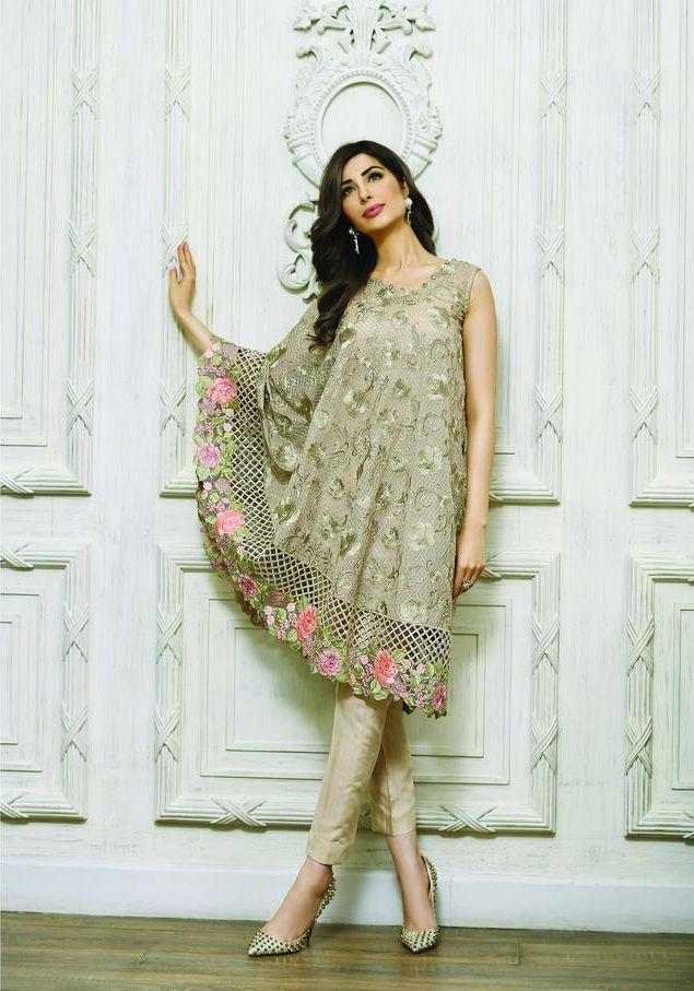 Buy Sage Zarqash Embroidered Chiffon Dress for Women by PakRobe.com Contact: (702) 751-3523 Email: info@pakrobe.com Skype: PakRobe
