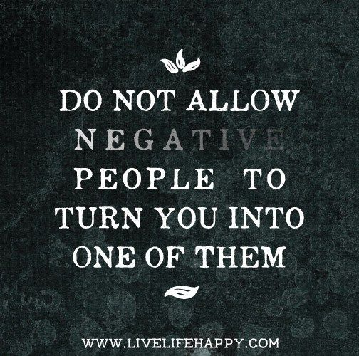 how to turn a negative person positive