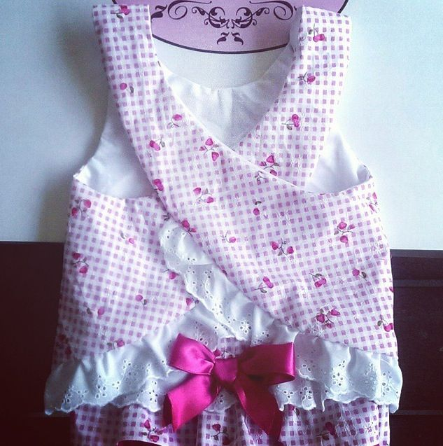 Cute criss cross cherry printed top with matching nappy cover made by Zaylie_Co