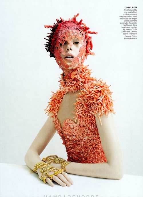 Alexander McQueen S/S 2012, Frida Gustavsson by Tim Walker for Vogue US May 2012.