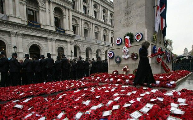 From Whitehall today - 11.10.12 http://i.telegraph.co.uk/multimedia/archive/02394/Wreaths_2394008b.jpg