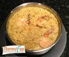 thermofunthairedprawncurry ThermoFun   Thai Red Curry Prawn Risotto Recipe