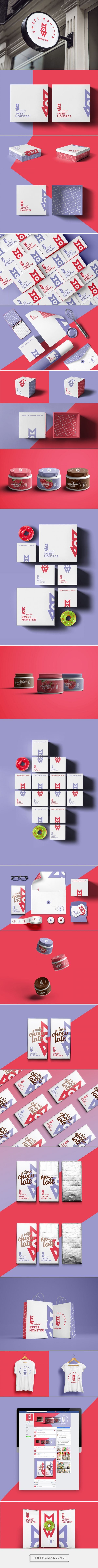 Sweet Monster | Pastry Shop (Concept) - Packaging of the World - Creative Package Design Gallery - http://www.packagingoftheworld.com/2016/12/sweet-monster-pastry-shop.html