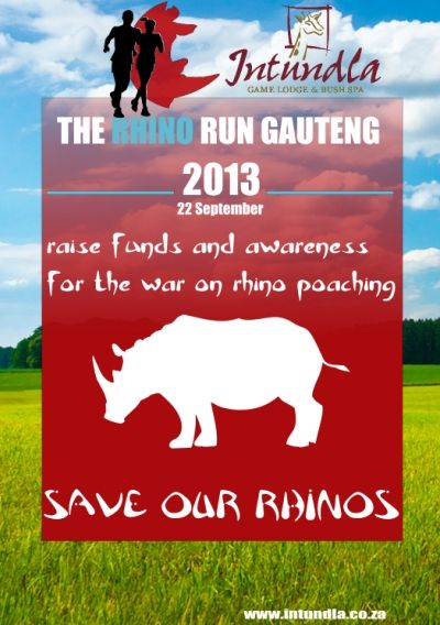Help save our Rhinos with The Rhino Run at Intundla