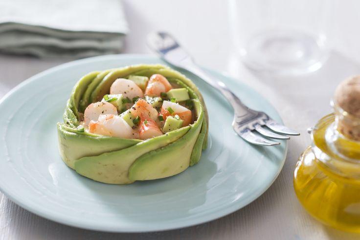 Salade d'avocat et crevettes Recette en vidéo de L'atelier des Chefs