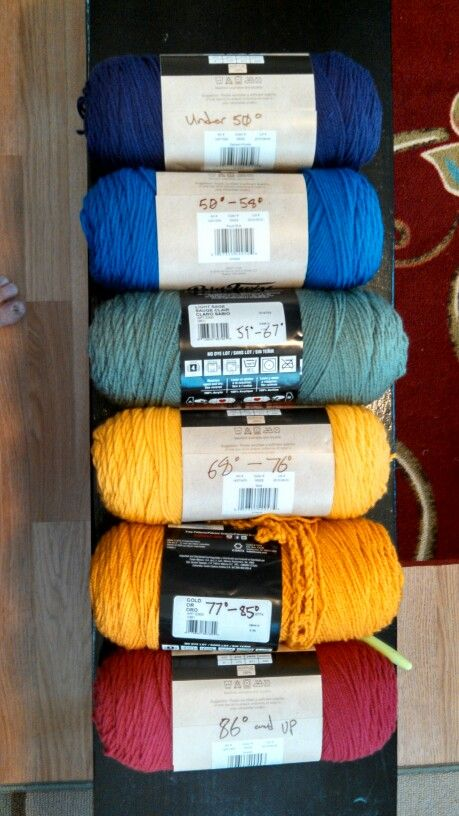 Colors For My Temperature Blanket Crafts Pinterest