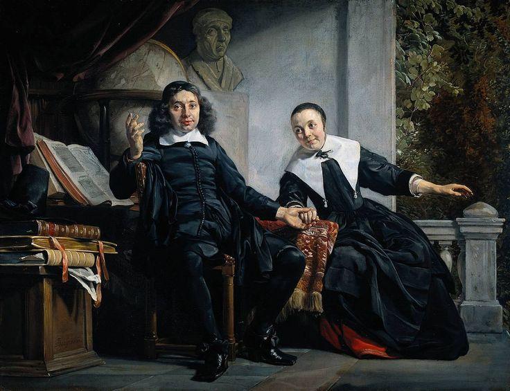 1663 Jan de Bray Portrait of the Haarlem printer Abraham Casteleyn and his wife Margarieta van Bancken
