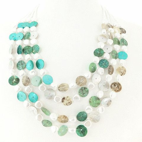 Teal shell necklace – Jc & Crew
