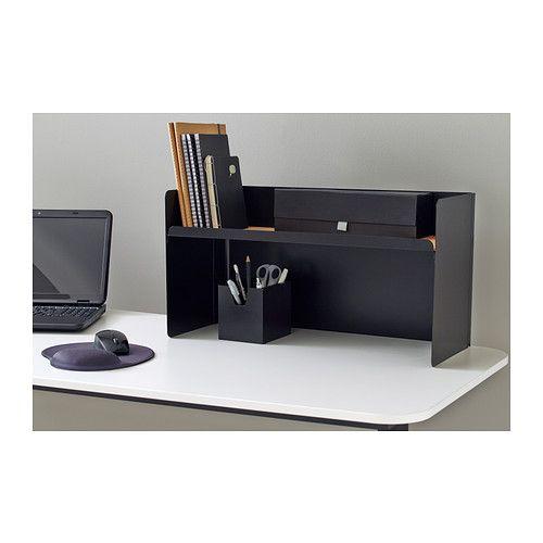 Bekant desktop shelf black ikea width 23 5 8 depth for Ikea desk with shelf