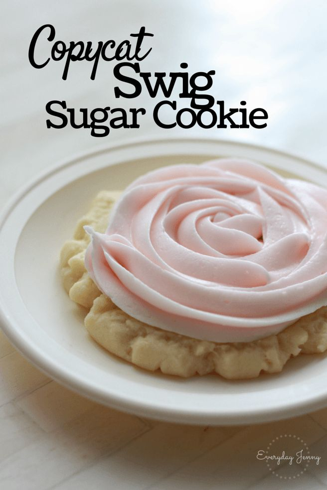 The best swig copycat recipe, makes the softest yummiest sugar cookies. Recipe at everydayjenny.com