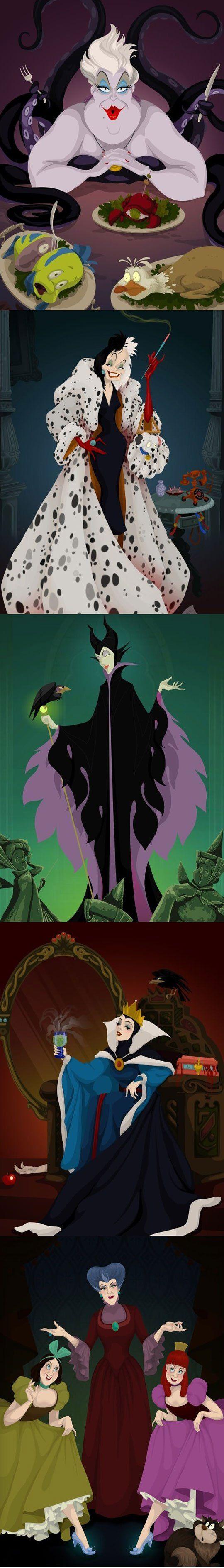 Disney Villain endings. These are kinda horrifying!