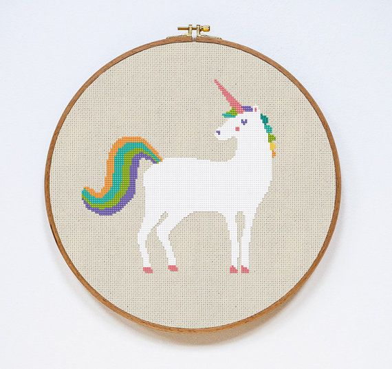 Modern Cross Stitch Pattern Unicorn Cross Stitch by Stitchering