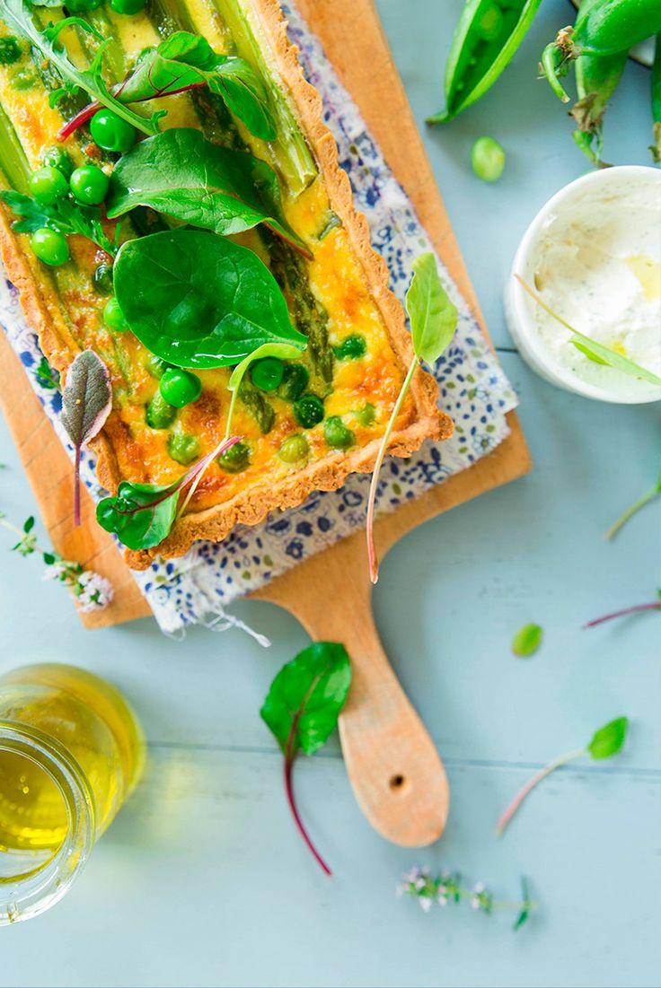 Quiches aux légumes verts Fraise & Basilic