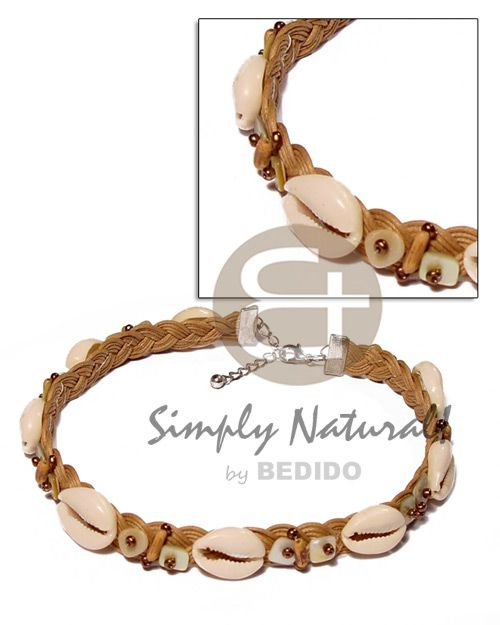 Company giveaways Sigay In Wax Cord Macrame Teens Necklace Wholesale Jewelry