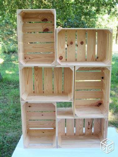17 meilleures id es propos de caisses de pommes sur pinterest maison pour enfants palettes. Black Bedroom Furniture Sets. Home Design Ideas