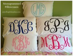 Monogram pillow case                                                                                                                                                                                 More