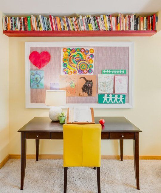 Before & After: An Artistic Family's Creative, Crafty Office — Professional Project