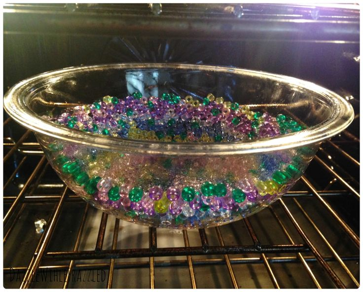 How to make a DIY melted bead bowl for Mother's Day using pony beads to melt into a pretty bowl in this easy and thrifty craft project.