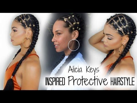 EASY Step-By-Step Alicia Keys Inspired Protective Hairstyle [Video] - Black Hair Information