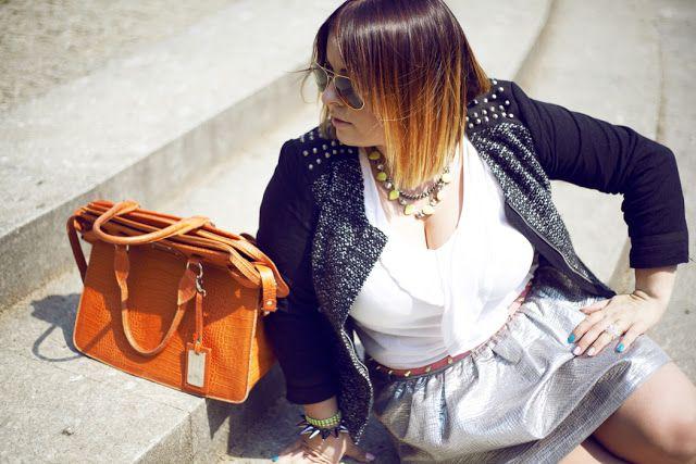 DeLaFashIva with Sabrina Pilewicz bag  Wearing size XL http://delafashiva.blogspot.com/2012/08/when-sun-comes-up.html