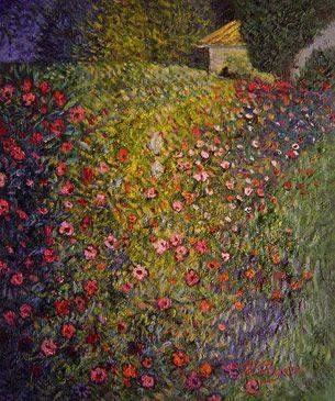 klimt flower paintings | ... show famous artists klimt paintings klimt italian garden landscape