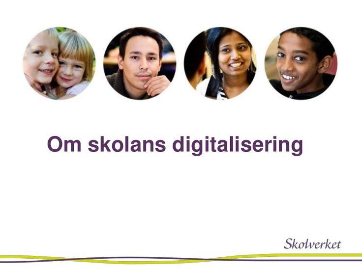 Skolverkets presentation om skolans digitalsering på SETT maj 2017.