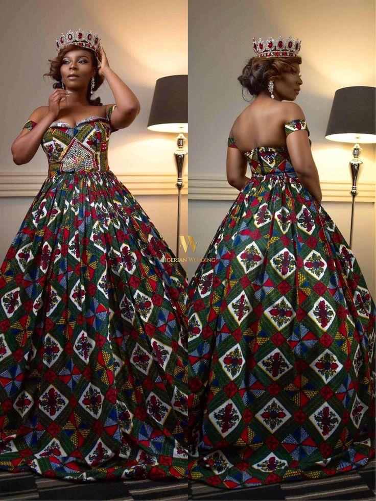 Makeup Artist & Style Blogger Aderonke Adefalujo Of Rhonkefella Makeover Rocks Ankara Inspired Wedding Dress For Birthday Shoot - Nigerian Wedding