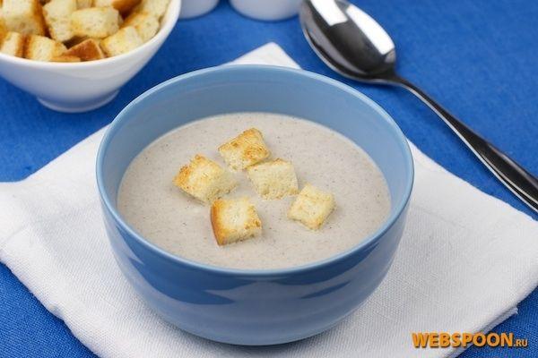 Грибной крем-суп | Рецепт грибного супа из шампиньонов с фото | Суп-пюре из шампиньонов