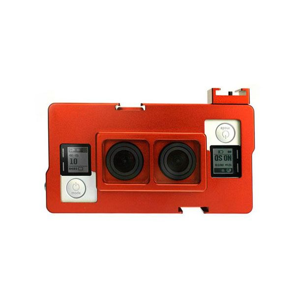 CNC Aluminum Dual GoPro Housing For Hero4/3+/3