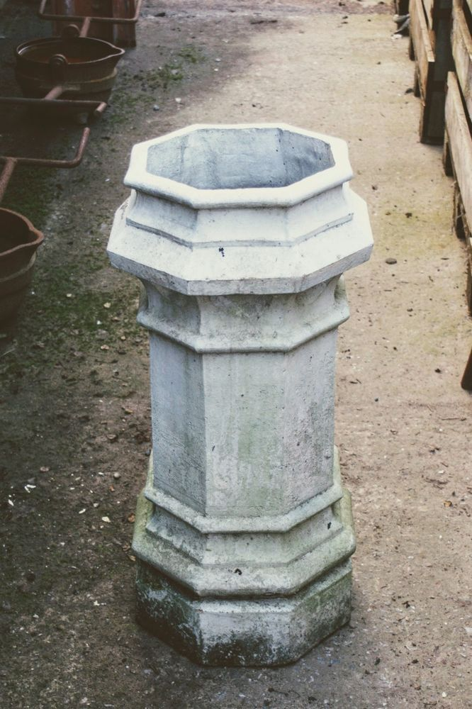Best Reclaimed White Painted Octagon Terracotta Chimney P*T 400 x 300