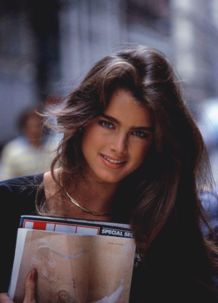 Brooke Shield's 1980's look.
