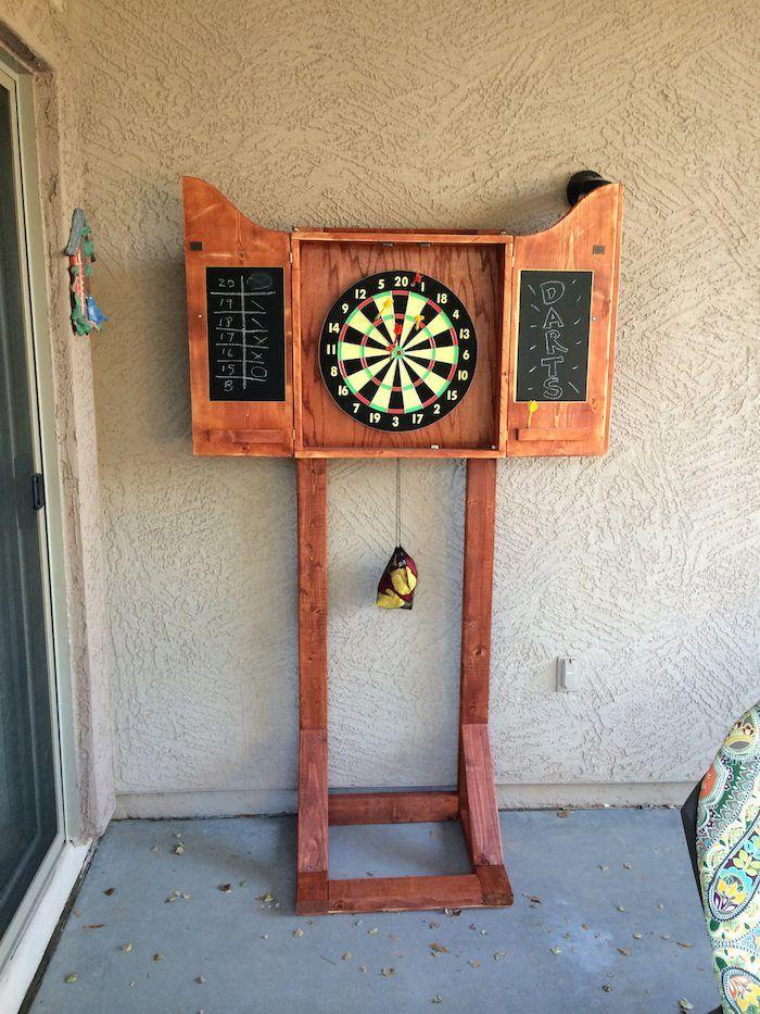 Dartboard Stand Diy Dart Board Cabinet, Outdoor Dartboard Cabinet Cover
