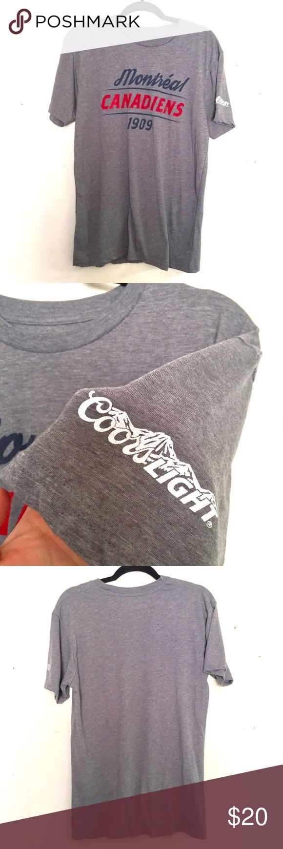 Montreal Canadians Coors Light Tshirt Large Men's Montreal Canadians Coors Light gray Tshirt. Men's Size Large. Excellent condition. NWOT. Shirts Tees - Short Sleeve