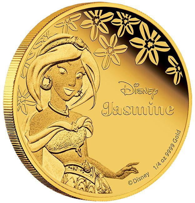 Disney Princess - Jasmine 2015 1/4oz Gold Proof Coin